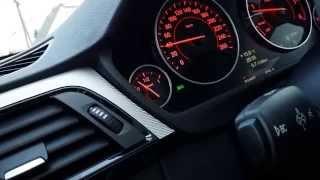 BMW 335d xdrive F31 - 2014 - tacho 0-100 km/h & motor sound (inside)
