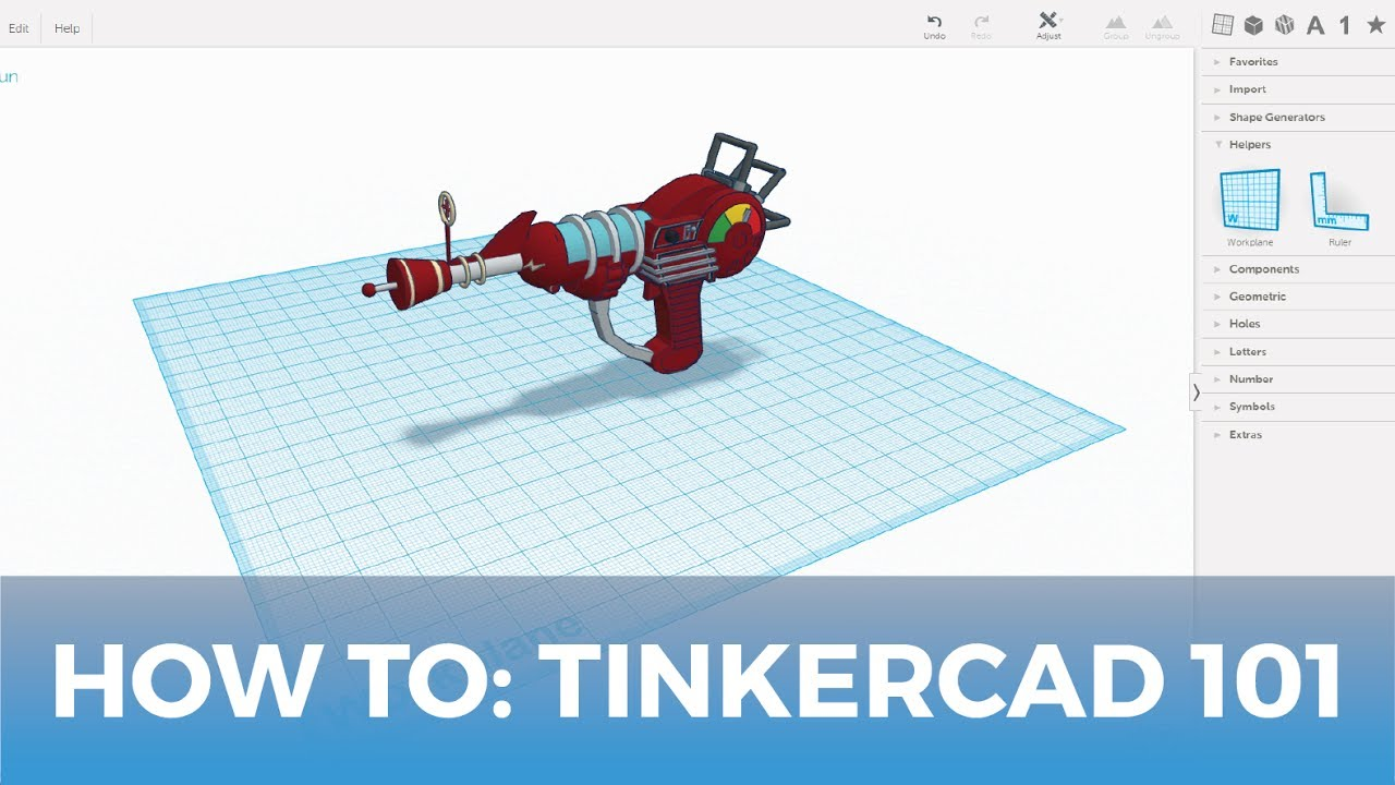 How To: Use Tinkercad 3D Design Software 101
