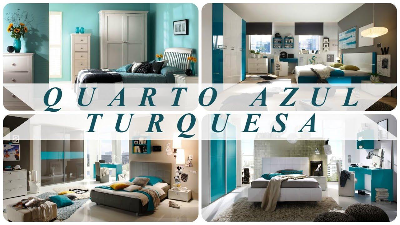 Quarto azul turquesa youtube for Paredes azul turquesa