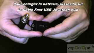 Comment Allumer, Eteindre, Charger une batterie de type EGO (JOYETECH)