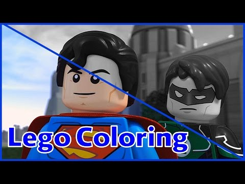 Lego Coloring Pages   Superman and Green Lantern   Lego Coloring Pages Fun