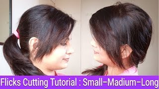 How To Cut Front Flicks/Fringes/ Bangs/Side Swepts At Home|Own Hair Cutting|AlwaysPrettyUseful