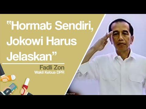 Presiden Hormat Sendiri Saat Indonesia Raya Berkumandang Di KPU, Fadli Zon: Jokowi Harus Jelaskan