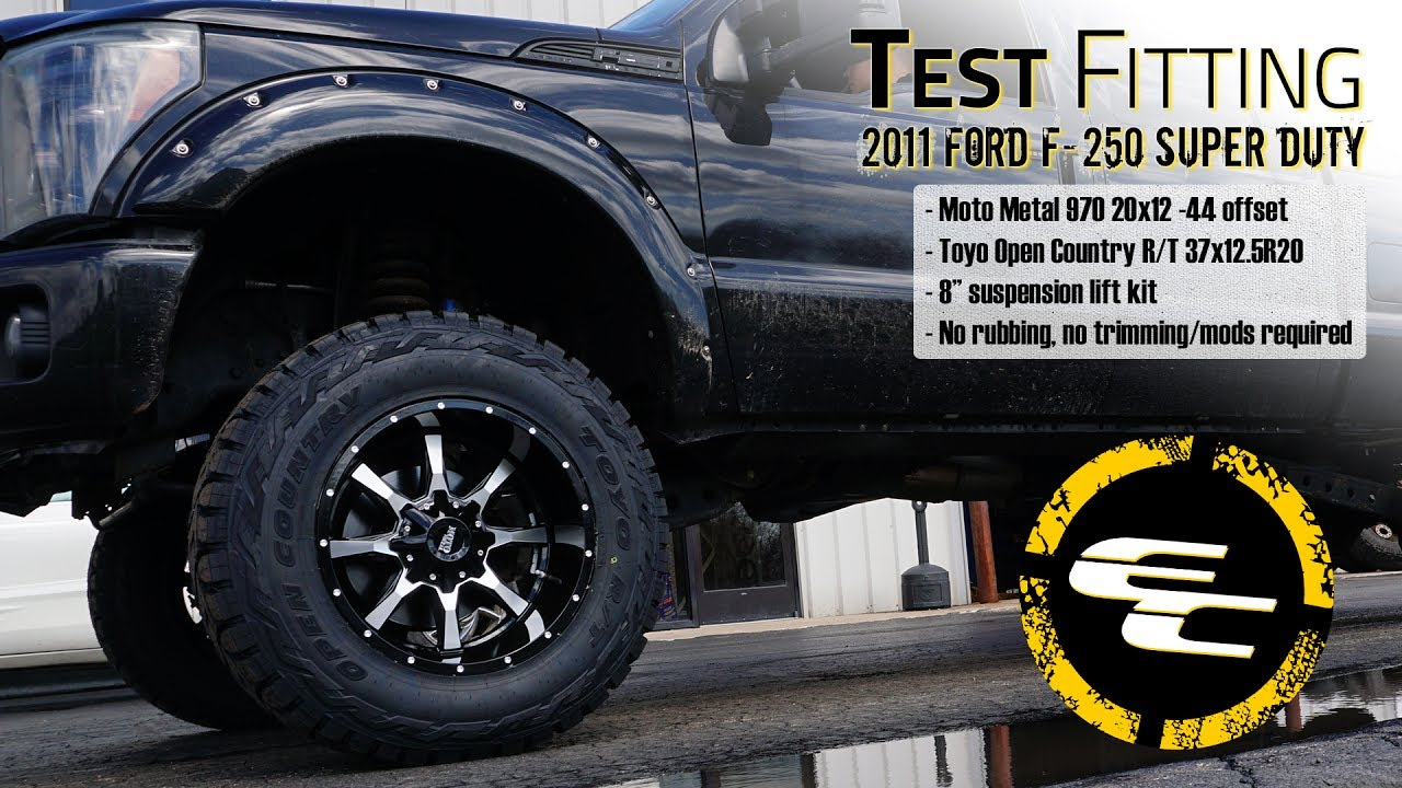 "2017 Ford F150 Lifted >> Test Fitting - Lifted 2011 Ford F-250 w/ 20"" Moto Metal ..."