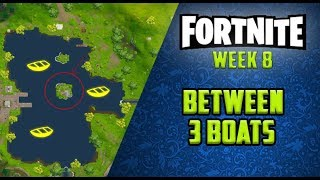 FORTNITE - WEEK 8 - Search Between 3 Boats (Coin Location)