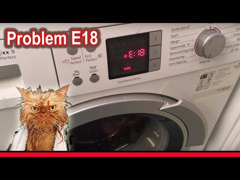 Repair E18 Broken Bosch Siemens Washing Machine – Pump Failure - Hilarious Find!