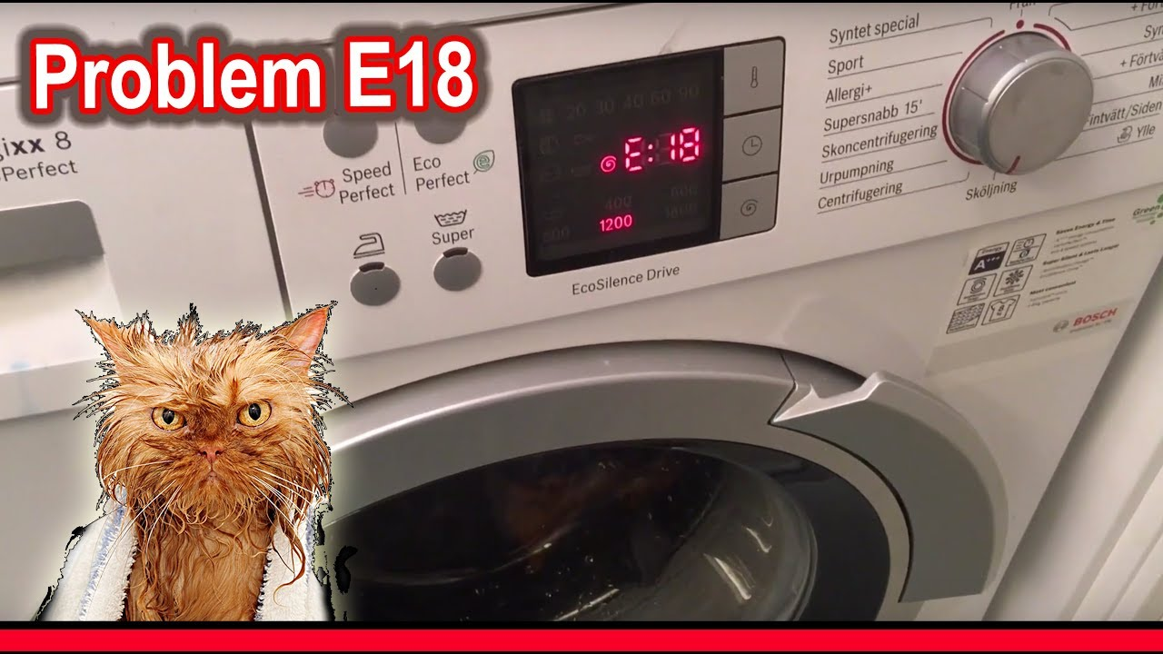 Tidssvarende Repair E18 broken Bosch Siemens washing machine – pump failure BH-85