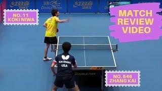 How Does World #11 Player Koki Niwa Lost To World # 546 Player Zhang Kai