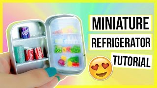 Miniature Refrigerator Tutorial ~ No Polymer Clay Needed! DIY for your Dollhouse