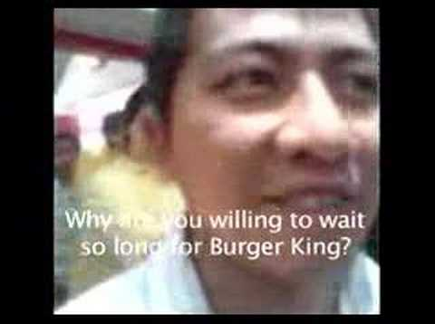 Lineup as Burger King opens in Jakarta