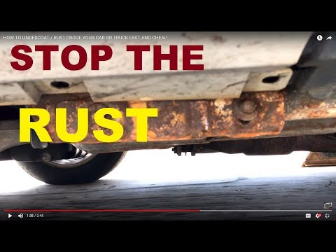 HOW TO UNDERCOAT / RUST PROOF YOUR CAR OR TRUCK FAST AND CHEAP