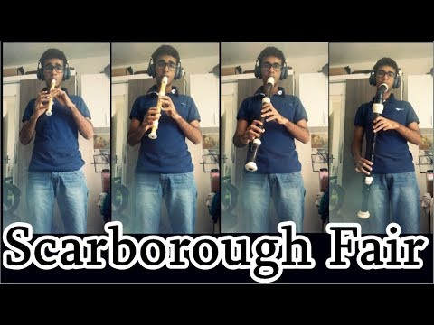 Scarborough Fair - Instrumental Recorder Quartet Quarteto de flautas Doce