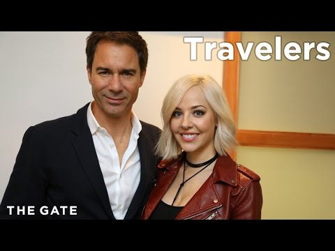 Eric McCormack and MacKenzie Porter on 'Travelers'
