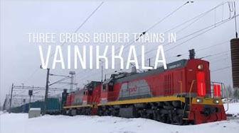 Three Fin - Rus cross border trains in Vainikkala.