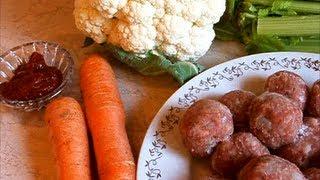Овощной Суп с фрикадельками.wmv