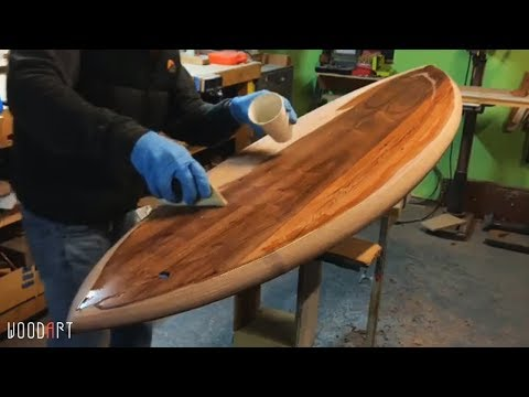Amazing Woodworking Project Wooden Surfboards! #Woodworking