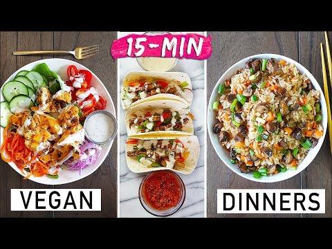 FIRE AF 🔥 15-MIN VEGAN DINNER IDEAS!