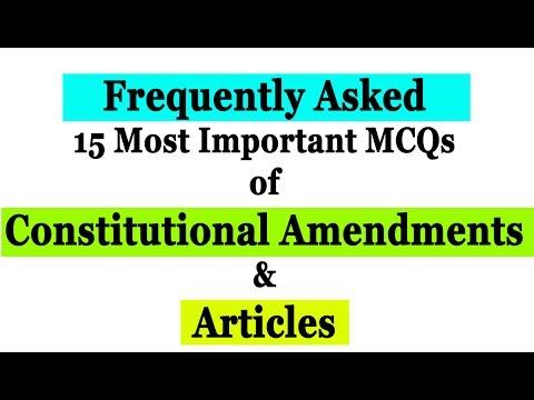 FAQ Constitutional Amendments & Articles in SSC