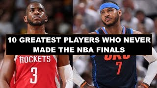 10 Greatest NBA Players Who Never Made The Finals