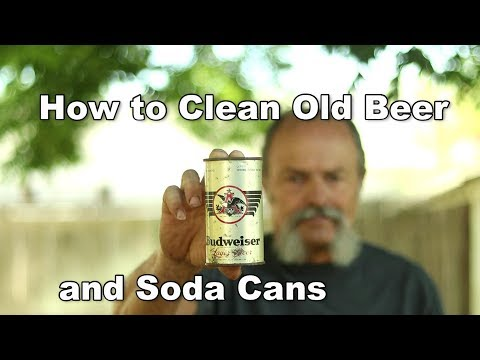 How to remove rust from old beer and soda cans