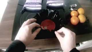 Stylische Schüssel aus alter Schallplatte selber machen