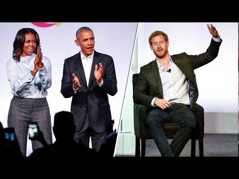 Always there for a friend! Prince Harry attends Barack Obama Foundation Summit