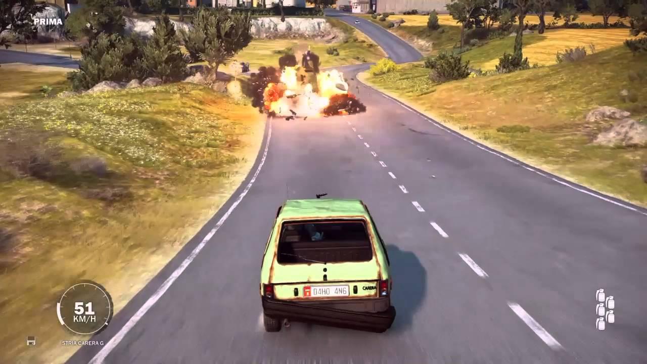 Just Cause 3: Car crash physics - YouTube