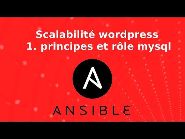 Wordpress - Scalabilité : 1. principes et isolation de l'installation mysql