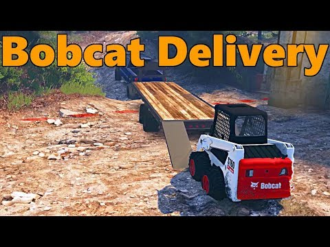 Spin Tires | Hauling Mission | 6.7 Powerstroke, Bobcat Delivery!