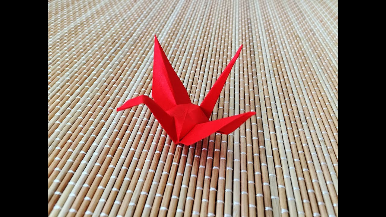 origami crane - YouTube - photo#27