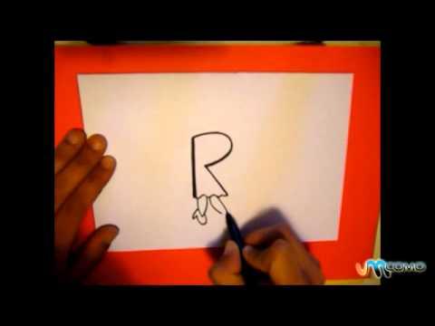 Como desenhar a letra R de forma original