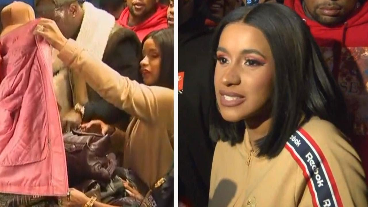 Cardi B Offers Fan Free Tickets For Life After Getting: Cardi B Hands Out Free Winter Coats To Fans In Brooklyn