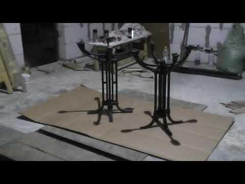 Покраска чугунной станины для стола