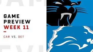 Carolina Panthers vs. Detroit Lions | Week 11 Game Preview | NFL Playbook