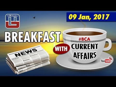 #bca | Breakfast With Current Affairs | 09 JAN 2017 | Live Broadcasting