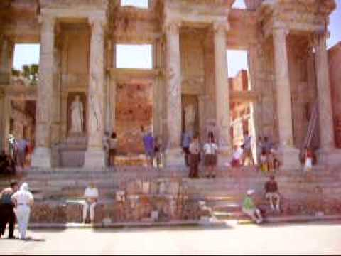 Celsus Library in ancient Ephesus.