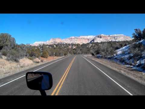US Highway 89 South from Glendale, Utah to Kanab, Utah