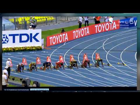 Moscow 2013 100m Men Semi Final 1 IAAF World Championship (Justin Gatlin 9.94)