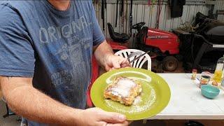 Motorcycle camp cooking  apple cinnamon doughnuts