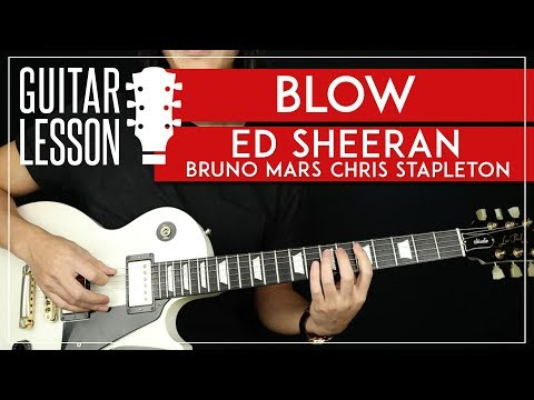 BLOW Guitar Tutorial 🎸  Ed Sheeran Bruno Mars Chris Stapleton Guitar Lesson |Solo + TABS|