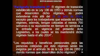 ley 50 1990 pension colombia: