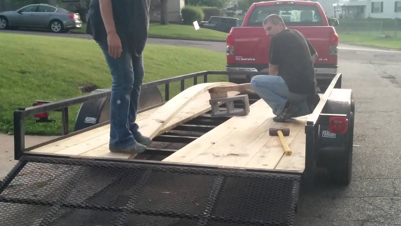 Replacing 16 trailer boards no welding youtube baanklon Images