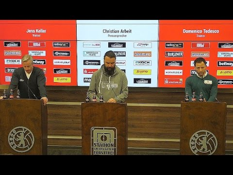 Pressekonferenz nach dem Spiel 1. FC Union Berlin - FC Erzgebirge Aue 0:1 #fcuaue