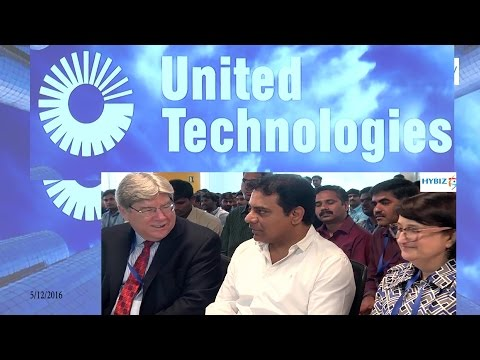 KTR Inaugurated United Technologies Hyderabad Research & Design Center | hybiz