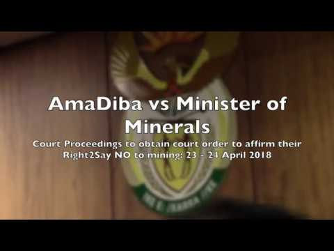 Part 5 Amadiba vs Minister of Minerals.  Adv Ngcukaitobi rep