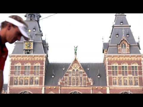 Joost Luiten makes driving a golf ball over a famous Dutch museum look pretty cool
