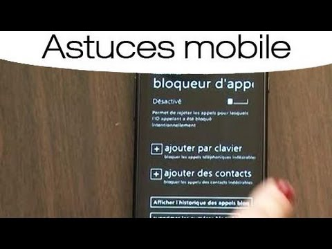astuces bloquer les appels d 39 un num ro sur son t l phone youtube. Black Bedroom Furniture Sets. Home Design Ideas