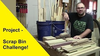Scrap Bin Challenge - Corner Shelf Unit and Small Bar Clamp Rack