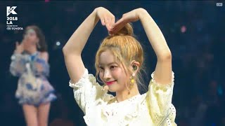 [Full] TWICE (트와이스) - Dance The Night Away, Talk, What is Love, Likey, & Cheer Up @ KCON LA 2018