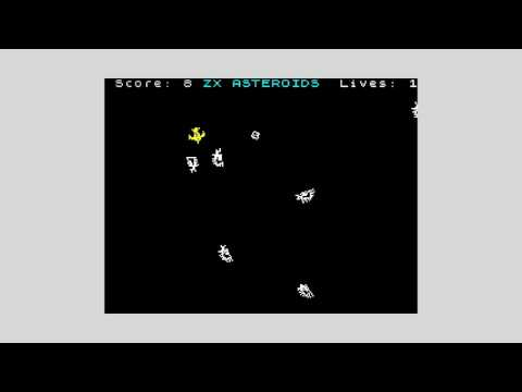 PRISM sprite rotation test: Asteroids